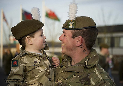 Soldier Returning from Afghanistan is Greeted by his Son